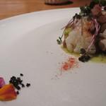 munakata cuisine ishida - 大島の真蛸、有機栽培の食用花