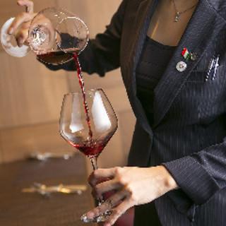 本場イタリアの資格を持つソムリエによる厳選ワイン