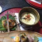 77909367 - ポルチーニ 牡蠣のチーズクリーム 左は幽庵焼き