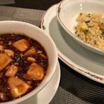 77910100 - 麻婆豆腐と炒飯