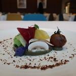 ル・グリル ドミニク・ブシェ カナザワ - 彩り野菜のコンポジション 茄子のピュレ