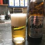 錦そば - 2017年12月 瓶ビール