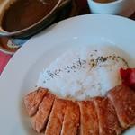 濱司×HAMAJI - 土鍋カレー+豚カツ