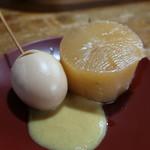 赤丹 本店 - おでんの大根と玉子