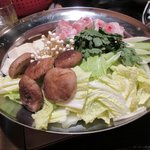 炭火焼鳥あずま - 信玄鶏鍋2017.12.09