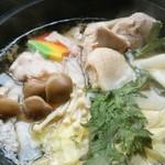 もりの風 - 鍋の出汁も美味しくスープまで完食。