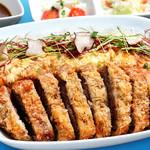 カフェ&バー スクランブル - 和牛カツレツのせごはん トリュフ卵とじ