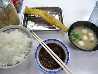 天麩羅処ひらお 本店 - 海老定食(海老4匹+野菜3品)