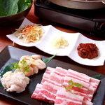 韓喰 - ◆韓式焼肉(皮付き豚サムギョプサル)◆