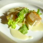 BVLGARI Il bar - 前菜 ホタテと根セロリのヴェリエーション