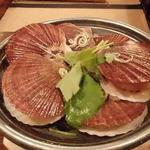 津軽じょっぱり漁屋酒場 - お通し(※500円)の貝のつゆ鍋