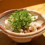 たく庵 - イカゲソ生姜醤油