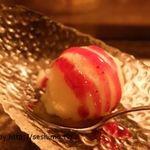 熟成焼肉Gyudo! - デザートのブルーベリーシャーベット