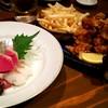 七厘焼 ぼちぼち - 料理写真:刺身と唐揚げ
