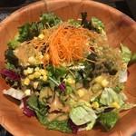77932332 - コーンと新鮮野菜の焙煎ゴマサラダ