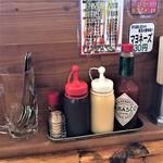 キッチン男のロマン - 卓上の調味料