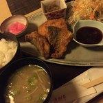 漁さい亭 - アジフライ カニクリームコロッケ定食