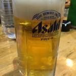 さしみや五坪 - 生ビール400円