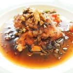 Restaurant Pigeon - ランチコース 3780円 のリードヴォーのムニエル 焦がしバターソース