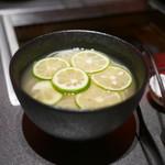 听屋焼肉 - 牛だし酢橘のさっぱりソーメン