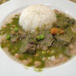 ワンチャコ - 今回料理は、「セコ・デ・カルネ・コンフリホーレス(牛肉煮込み黄いんげん豆のソース添え※ライス付き)」1400円を注文しました。