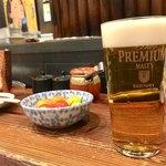 赤身とホルモン焼 のんき - 生ビール