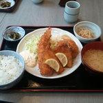 蔵蔵 - 定食(キス、海老、コロッケ)