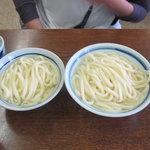 長田うどん - 大と小