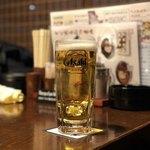 居酒屋 鴨と豚 とんぺら屋 - 生ビール