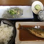おせんや - 鯖の味噌煮定食と生シラス