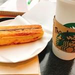 スターバックス・コーヒー - グランデスターバックスラテとデニッシュスティックチョコ
