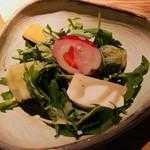 ごはんや一芯 - サラダ:冬野菜のサラダ 蟹味噌ドレッシング