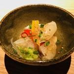 ごはんや一芯 - 箸休め:わかさぎと下仁田葱の南蛮漬け