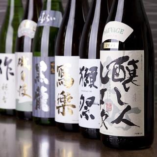 日本酒の品揃えは30種以上!飲み放題も有り□!