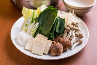 北海道しゃぶしゃぶ ポッケ - 毎日仕入れる新鮮な野菜の数々!