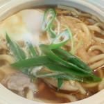 ニュー樹海 - 料理写真:セットの鍋焼きうどん