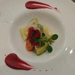 キッチンステージ - オマール海老と洋梨のアントレ
