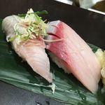 立食い寿司 根室花まる - トロにしん・寒ブリ