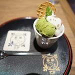 SNOOPY茶屋 - スヌーピー抹茶あん蜜パフェ@972