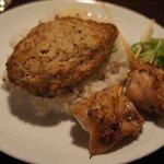 スープカリー スアゲ プラス - 豚ハン+炭焼きチキン