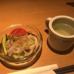 らるきい - サラダ、トースト、スープセット200円税抜