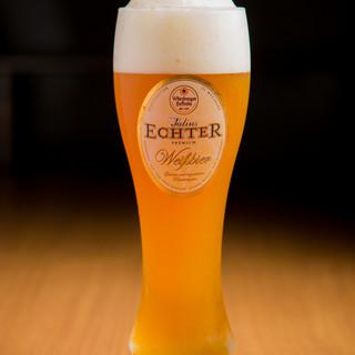 ビールはすべてドイツから取り寄せた本場の味わい