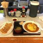 中華料理 一来一来 - 天津飯と餃子セット  ¥750