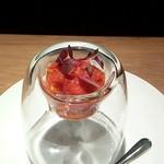77967489 - アミューズ「タコのトマト煮」