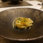 nagoya murata  - カラスミのパスタ、ワサビ菜添え