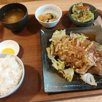 塩胡椒 - やみつきチキンオリジナルソース定食【2017.12】