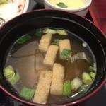 京成友膳 - 味噌汁