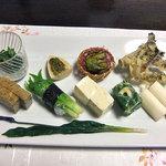 湯倉温泉 鶴亀荘 - 前菜(2011年5月)