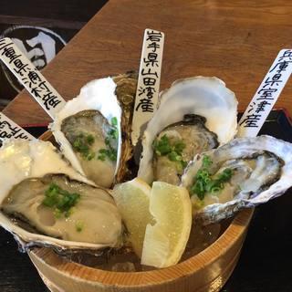 ★牡蠣の食べ比べ