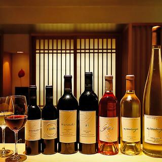 ケンゾーエステートなど120種類の豊富なワインラインナップ